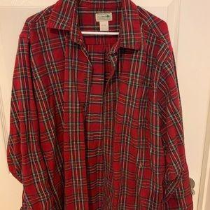 LL Bean Flannel Button Up